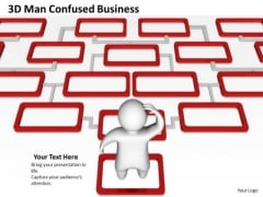 Business Process Management Diagram Confused World PowerPoint Templates Slides