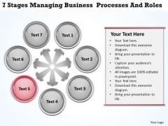 Business Process Management Diagram Download Processes And Roles PowerPoint Templates