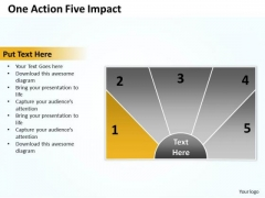Business Process Model Diagram One Action Five Impact PowerPoint Templates