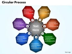 Business Process PowerPoint Templates Business Circular Process Of Decision Making Ppt Slides