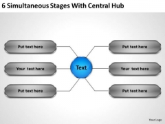 Business Process Strategy 6 Simultaneous Stages With Central Hub Management