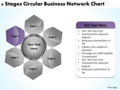 Business Process Strategy 6 Stages Circular Network Chart It