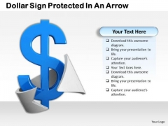Business Process Strategy Dollar Sign Protected An Arrow Clipart