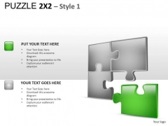 Business Puzzle 2x2 1 PowerPoint Slides And Ppt Diagram Templates