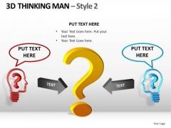 Business Questions PowerPoint Templates 3d Men Ppt