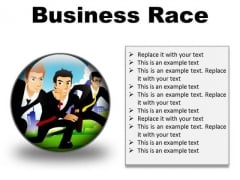 Business Race Competition PowerPoint Presentation Slides C