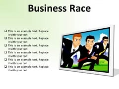 Business Race Competition PowerPoint Presentation Slides F