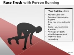Business Race Person Running PowerPoint Slides And Ppt Diagram Templates