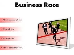 Business Race Success PowerPoint Presentation Slides F