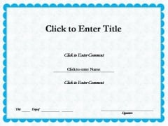 Business Recognition Certificate PowerPoint Templates