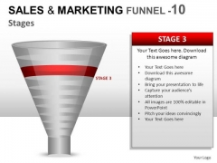 Business Sales And Marketing Funnel 10 PowerPoint Slides And Ppt Diagram Templates