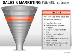 Business Sales And Marketing Funnel 11 PowerPoint Slides And Ppt Diagram Templates