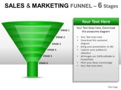 Business Sales And Marketing Funnel 6 PowerPoint Slides And Ppt Diagram Templates