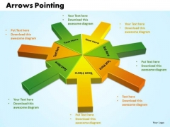 Business Sales PowerPoint Templates Business Arrows Pointing Inwards Chart Ppt Slides