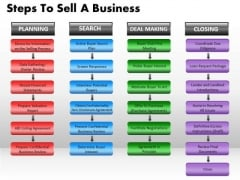Business Shapes PowerPoint Templates Marketing Steps To Sell A Business Ppt Slides