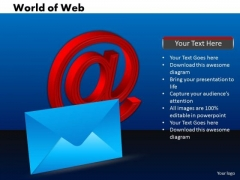 Business Signs PowerPoint Templates Business World Of Web Ppt Slides
