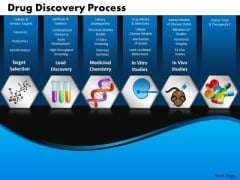 Business Steps PowerPoint Templates Business Drug Discovery Process Ppt Slides