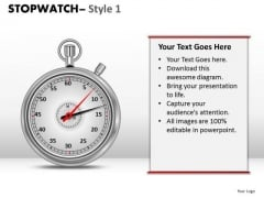 Business Stopwatch 1 PowerPoint Slides And Ppt Diagram Templates