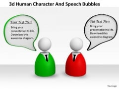 Business Strategy 3d Human Character And Speech Bubbles Modeling
