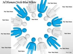Business Strategy 3d Human Circle Blue White Character Modeling
