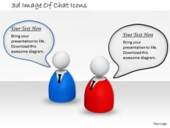 Business Strategy 3d Image Of Chat Icons Characters