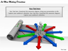 Business Strategy 3d Man Making Directions Basic Concepts