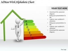 Business Strategy 3d Man With Alphabetic Chart Adaptable Concepts