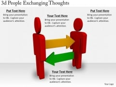 Business Strategy 3d People Exchanging Thoughts Adaptable Concepts