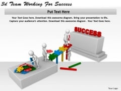 Business Strategy 3d Team Working For Success Basic Concepts