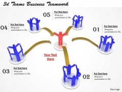 Business Strategy 3d Teams Teamwork Concepts