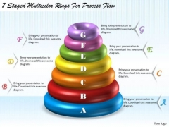 Business Strategy 7 Staged Multicolor Rings For Process Flow Strategic Plan Outline