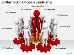 Business Strategy And Policy 3d Illustration Of Gears Leadership Adaptable Concepts