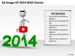 Business Strategy And Policy 3d Image Of 2014 With Doctor Concept