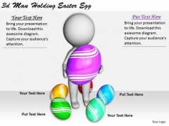 Business Strategy And Policy 3d Man Holding Easter Egg Concepts