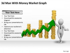 Business Strategy And Policy 3d Man With Money Market Graph Characters