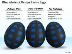 Business Strategy And Policy Blue Abstract Design Easter Eggs Image
