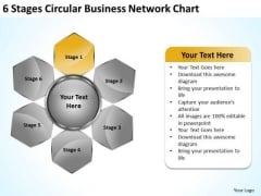 Business Strategy And Policy Circular Network Chart Consultants