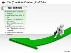 Business Strategy And Policy Get The Growth Sales 3d Characters
