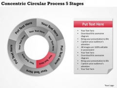 Business Strategy Concentric Circular Process 5 Stages
