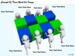 Business Strategy Concept Of Team Work 3d Image Basic Concepts