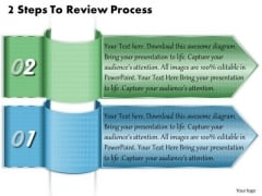 Business Strategy Concepts 2 Steps To Review Process Strategic Planning Template Ppt Slide