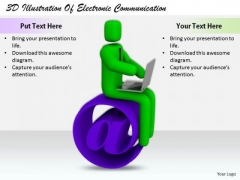 Business Strategy Concepts 3d Illustration Of Electronic Communication Basic