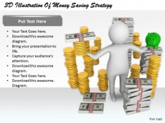 Business Strategy Concepts 3d Illustration Of Money Saving Basic