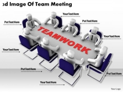 Business Strategy Concepts 3d Image Of Team Meeting Characters