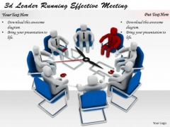 Business Strategy Concepts 3d Leader Running Effective Meeting