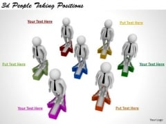 Business Strategy Concepts 3d People Taking Positions Adaptable