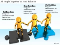 Business Strategy Concepts 3d People Together Find Solution Adaptable