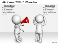 Business Strategy Concepts 3d Person With Megaphone Character