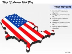 Business Strategy Concepts Map Of America With Flag Images