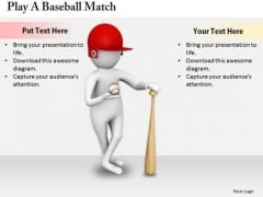 Business Strategy Concepts Play Baseball Match 3d Characters